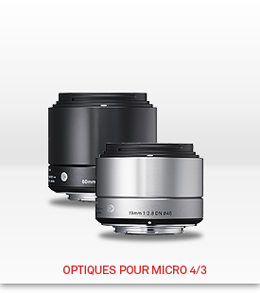 Optiques Sigma pour Micro 4/3