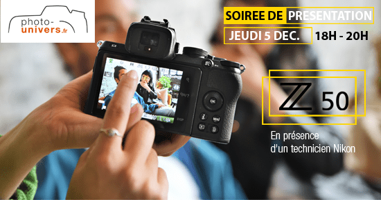 Soirée de présentation du Nikon Z50 le jeudi 5 décembre