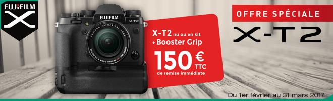 X-T2 + booster grip VPB-XT2 = 150€ de remise immédiate !