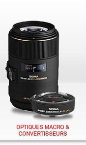 Optiques macro et convertisseurs Sigma