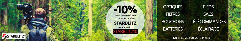 du 12 au 22 avril -10% sur tout Starblitz avec le code STARBLITZ10