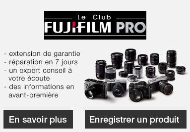 Adhérez au club Fujifilm Pro